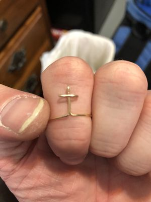 Custom Wire Nameplate Cross Ring for Sale in Cleveland, OH