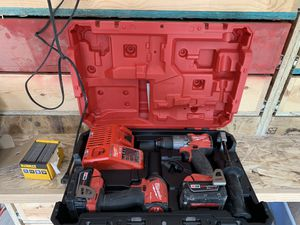Milwaukee M18 Fuel impact and drill + cordless sander for Sale in Fridley, MN