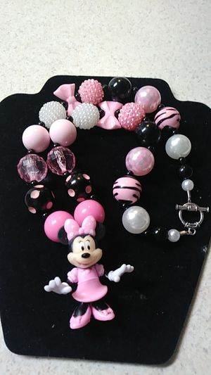 Minnie Mouse chunky necklace for Sale in Fresno, CA