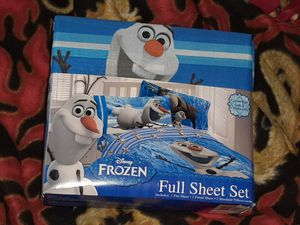 FROZEN FULL SIZE cotton SHEET SET ● Olaf kids boy girl for Sale in Manchester, NH