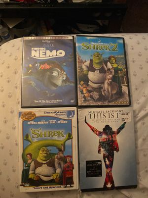 Finding Nemo shrek 1 & 2 Michael Jackson this is it DVD for Sale in Youngtown, AZ