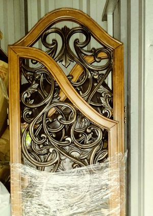Room divider beautiful wood an black rod iron for Sale in Richmond, VA