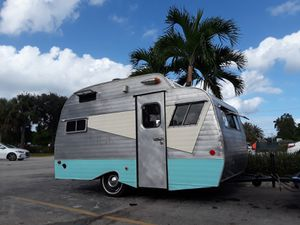 1967 serro Scotty Sportsman Highlander travel trailer camper RV mobile Boutique food truck mobile barber shop canned ham van for Sale in Pompano Beach, FL