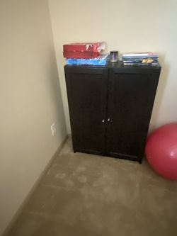 Two Brown Book Shelves With Door! Opens Outward and 2 Shelves On Inside for Sale in Richmond,  TX