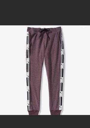 New Victoria's Secret Pink Cozy Classic Joggers Pants Sweatpants Large for Sale in Dallas, TX