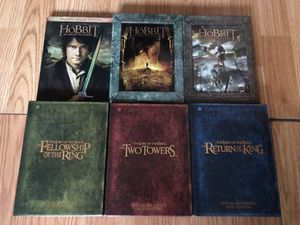 The hobbit and the lord of the rings DVD movies for Sale in Houston, TX
