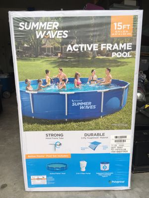 Summer Waves 15ft Above Ground Swimming Pool Active Metal Frame for Sale in Valrico, FL