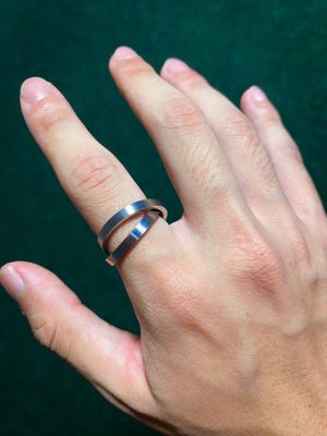 VINTAGE RARE Infinity SS Silver Plated Double Ring for Sale in Anaheim, CA