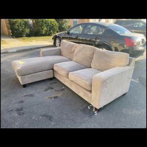 Tan L Shape Secrional Couch for Sale in Reston, VA