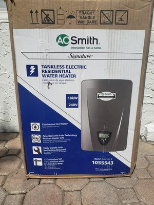 AO Smith Tankless Electric Water Heater 18kw 240-Volt for Sale in Lighthouse Point, FL