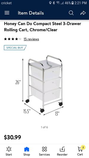 Honey can do 3 drawer rolling cart for Sale in Sacramento, CA