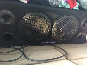 """Optimus 8"""" speakers in a box for Sale in San Angelo, TX"""