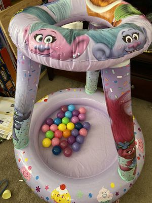 Used troll ball pit comes with 30 balls for Sale in La Mesa, CA