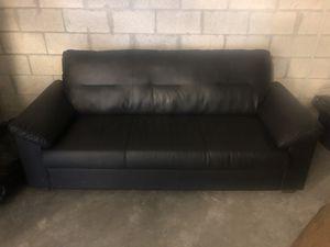 Black leather sofa for Sale in Miami, FL