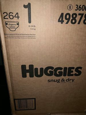 Huggies diapers size 1 snug dry for Sale in Downey, CA