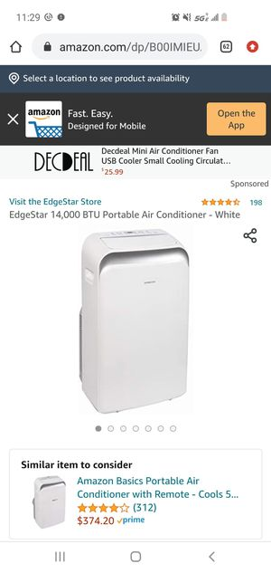 Portable AC edgestar for Sale in Tempe, AZ