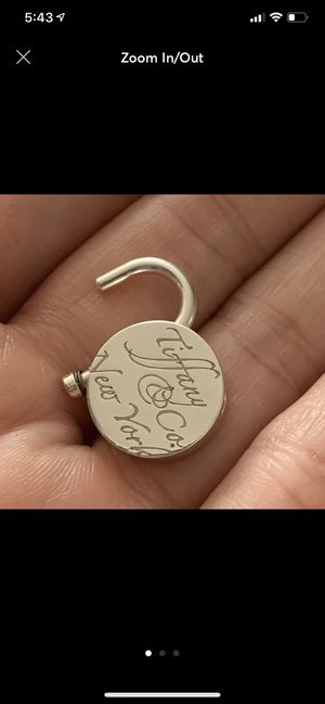 Tiffany and Co. lock charm for Sale in Wantagh, NY
