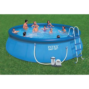Intex 18' X 48'' above ground inflatable swimming pool set for Sale in Fresno, CA