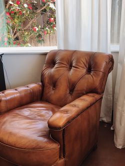 Lexington Aniline Genuine Leather Chair for Sale in Newport Beach,  CA