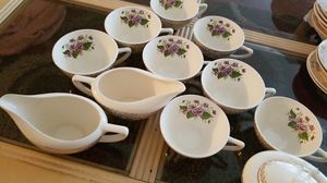 Beautiful antique tea cups creamer milk and sugar dispencers for Sale in Portland, OR