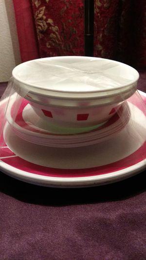 CorningWare dish set of 11 3 medium bowls 5 small plates three large plates for Sale in Bakersfield, CA