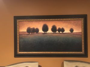Painting with dark brown and gold frame for Sale in Naperville, IL