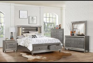 4 Pcs Queen size bedroom set in offer for Sale in Kissimmee, FL