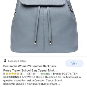Bostanten Leather Backpack/Purse for Sale in Miami, FL