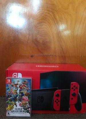 Nintendo Switch+Super smash bro's ultimate game (negotiable) for Sale in Dearborn, MI