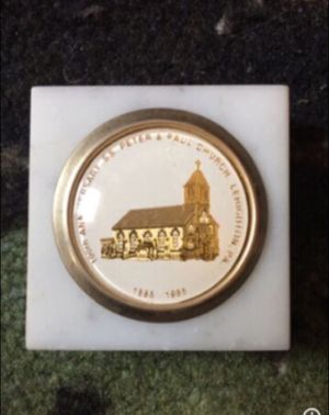 Anniversary S.S. Peter & Paul Church Paper Weight -Lehighton, Pa 1885-1985 for Sale in Milnesville, PA