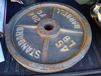 2 CAP 45lb Weight Plates for Sale in Colorado Springs,  CO