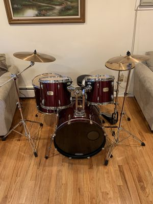 Pearl Export drum set Sabian cymbals & all hardware for Sale in Lindenhurst, NY