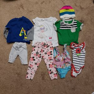 8 piece infant and toddler baby girl clothes bulk for Sale in Silver Spring, MD