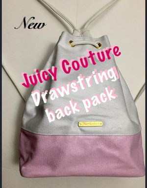 JUICY COUTURE, PINK & WHITE DRAWSTRING BACK PACK for Sale in College Park, MD