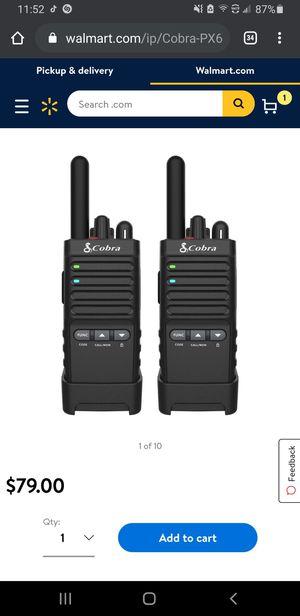 Cobra PX655 Pro Business 2W FRS Walkie Talkie - 2-Way Radio for Sale in Fresno, CA