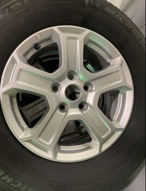 5 wheels and tires off 2019 Jeep Wrangler JL Unlimited Sport!! Michelin LTX M/S 245/75R17 for Sale in Tampa, FL