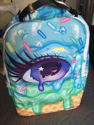 Barely used!! limited edition eyescream sprayground backpack for Sale in Miami, FL