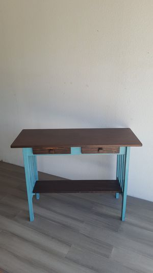 Turquoise and Brown Console Table for Sale in Dallas, TX