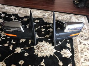 2009-2014 FORD F150 CHROME POWER FOLD MIRRORS PASSENGER SIDE RH BL34-17682-EESMAS AND DRIVER SIDE LH BL34-17683-EESMAS for Sale in Fort Washington, MD