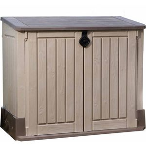 All-Weather Plastic Outdoor Storage in Beige/Taupe for Sale in Henderson, NV