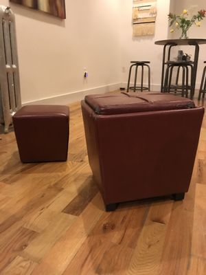 Storage cube + foot rest for Sale in Brooklyn, NY