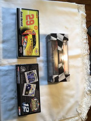 3 nascar 1/24 scale cars vintage Ryan Newman Kevin harvick pennzoil for Sale in Arlington, WA