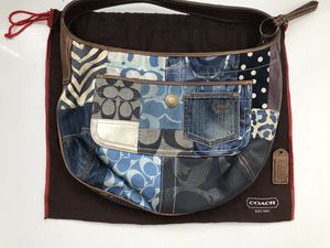 Coach Monogram Purse Hobo Leather Patchwork Bag Rare for Sale in Henderson, NV