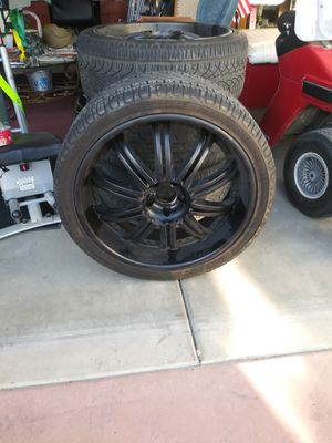 Custom rims and tires size 17/18 for Sale in Murrieta, CA