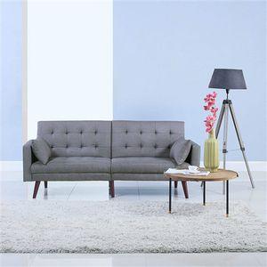 Modern Mid-Century Light Grey Linen Split-Back Sofa Bed.FF-6545677788FS. for Sale in San Francisco, CA