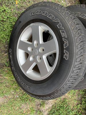 "Jeep JK Wrangler 17"" wheels n tires set of 5 for Sale in Seminole, FL"