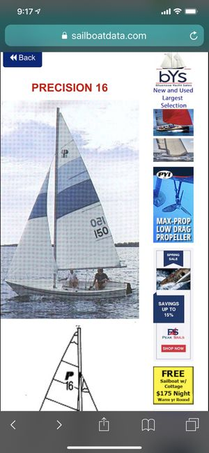16 ft Precision Sailboat for Sale in Hingham, MA