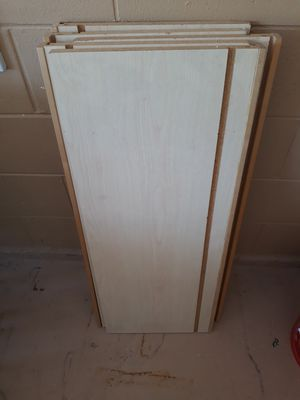1-Wood Shelves And 2-Metal Brackets for Sale in BVL, FL