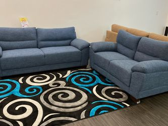 MODERN NEW MENDOZA FABRIC SOFA AND LOVESEAT. SAME DAY DELIVERY! NO CREDIT CHECK FINANCING $49 DOWN! for Sale in St. Petersburg,  FL