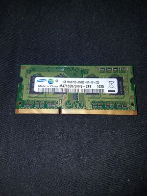 1GB DDR3 8500S Ram/Memory for Laptops/Notebooks for Sale in Florissant, MO